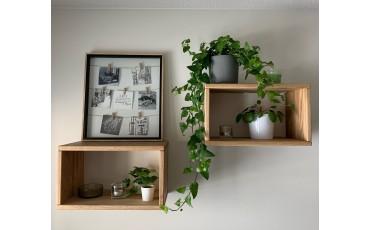Esittelyssä tammiset seinähyllyt sekä blogimme